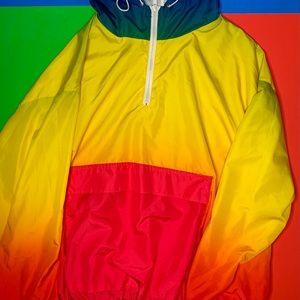 BRAND NEW-no tags-Rainbow windbreaker